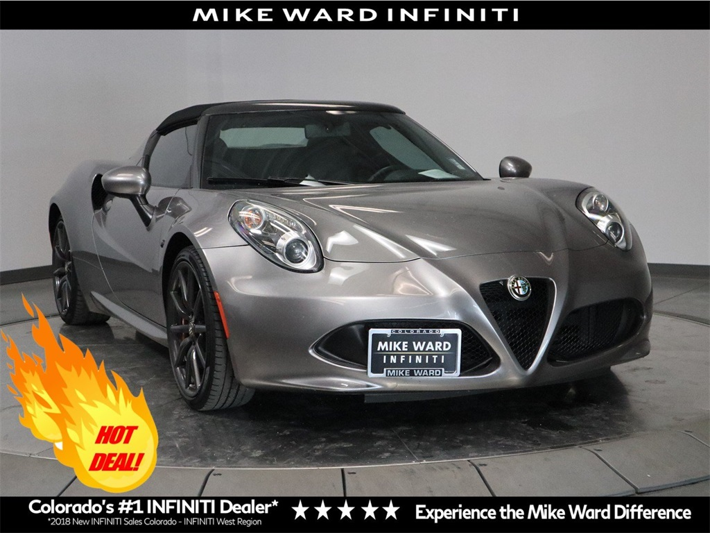 Pre-Owned 2015 Alfa Romeo 4C Convertible